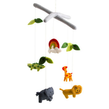 Felt Safari Animal Mobile