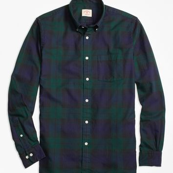 Black Watch Tartan Basketweave Sport Shirt - Brooks Brothers