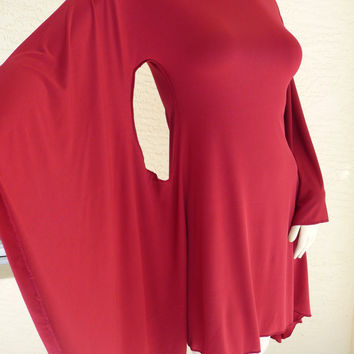 One of a Kind red Dress/ Tunic all SIZES and 0 - 12  Plus Size 14 16 18 Valentine's Day