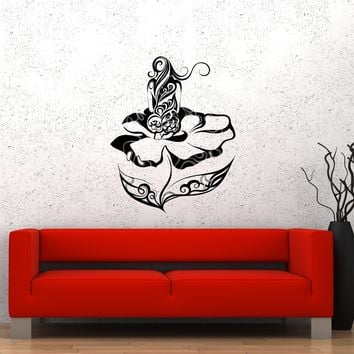 Wall Decal Naked Girl Nature Beautiful Sexy Woman Flower Vinyl Sticker Unique Gift (ed742)