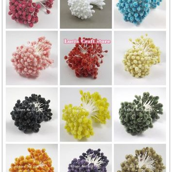 5mm 18colors options Glass floral stamen for flowers cake decoration diy pistil stamen 70pcs lot 11050522(70)