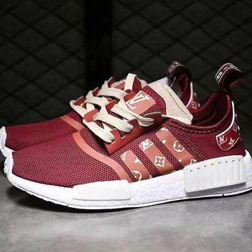 CHEN1ER Adidas NMD x LV Louis Vuitton Women Fashion Breathable Running Sneakers Sport Shoes