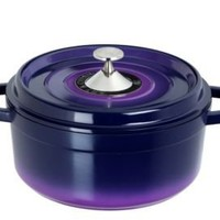 One Kings Lane - Kitchen Must-Haves - Cocotte Round Soup Pot, Purple 2.5 Qt.