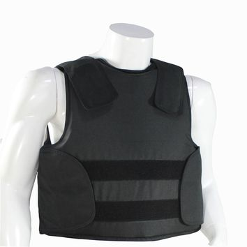 Bulletproof Vest NIJ IIIA M L XL Black Color