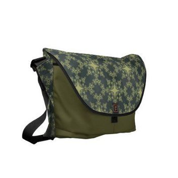 Grunge Damask Messenger Bag from Zazzle.com