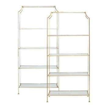 Worlds Away Chole Gold Etagere