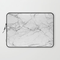 Marble Texture Laptop Sleeve by Printapix