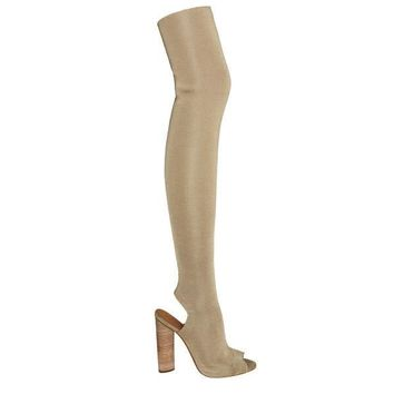 Indie Designs Yeezy Thigh High Knit Boots
