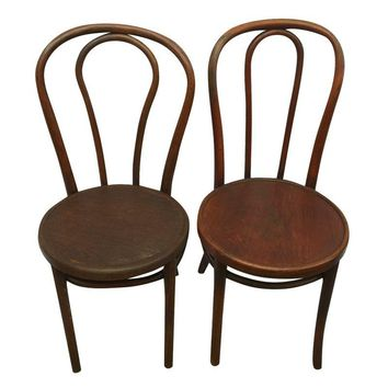 Pre-owned Thonet Style Bentwood Chairs - Set of 4