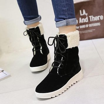 Mid Calf Ankle Winter Snow Boots