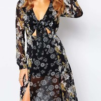 Millie Mackintosh Maxi Dress in 70s Floral Print at asos.com