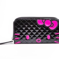 Hello Kitty Black Patent Wallet: Face