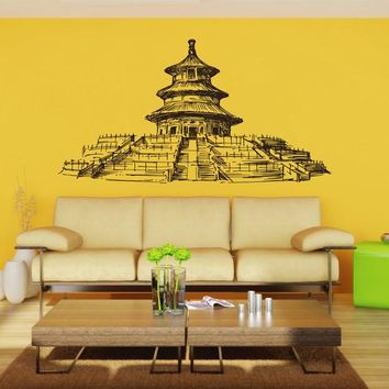 ik2403 Wall Decal Sticker ancient temple hall bedroom china chinese restaurant