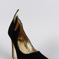Shoe Republic Suede Flame Pointy Toe Pump Size: 7.5, Color: Black