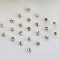 60 SPARKLY Stick On Fake Nose Studs/Golden Fake Nose Labret Monroe Ear Studs/Self Adhesive Nose Studs/Fake Nose Studs/Fake Ear Studs