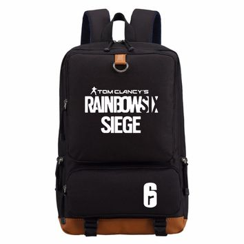 GAME Tom Clancy's Rainbow Six Siege bag  backpack teenagers Men women's Student School Bags travel Shoulder Bag Laptop Bags