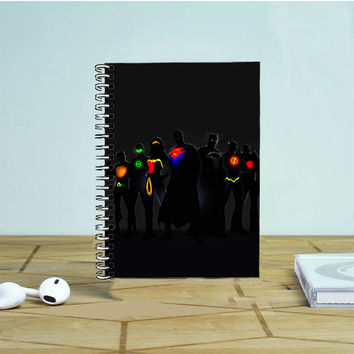 Justice League DC Superheroes Photo Notebook Auroid