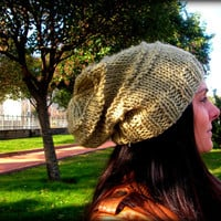 bright yellow hat,bright yellow slouchy hat,handmade hat,slouchy hat,women hat,winter accessories,women accessories