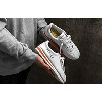 Nike Classic Cortez KM QS Retro Running Shoes White&Orange 943088-100