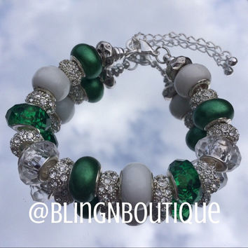 Spirit Bracelet - Green/White