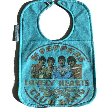 The Beatles Sgt. Peppers Baby Bib  Upcycled T-shirt Bib Rocker Bib