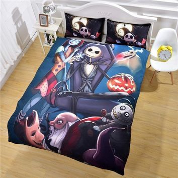 Nightmare Before Christmas Bedding Set Qualified Bedclothes Unique Design No Fading Duvet Cover Twin Full Queen