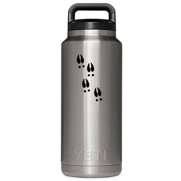 YETI 36 oz Rambler Bottle Deer tracks Laser Etched
