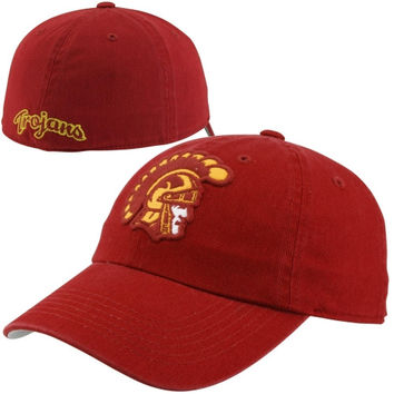 USC Trojans Leopold Fitted Hat - Cardinal