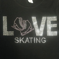 Love Ice Skating Jacket/Sweatshirt with hood