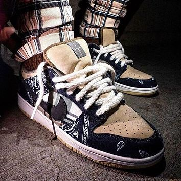 Travis Scott x Nike SB Dunk Low Retro Men Women Casual Sport Running Shoes Sneakers