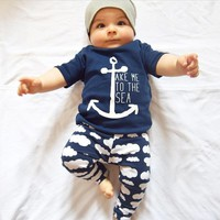 Summer Style Infant Clothes Baby Clothing Sets Boys Cotton Short Sleeve T-shirt + Pant 2pcs Baby Boy Clothes