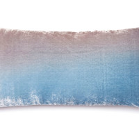 Ombré 7x15 Velvet Pillow, Robin's Egg, Decorative Pillows