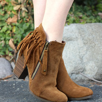 The Wild One Fringe Booties