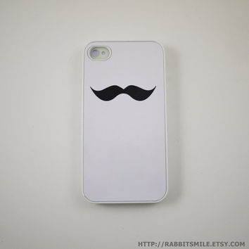 White Mustache iPhone 4 Case iPhone 4s Case iPhone by rabbitsmile