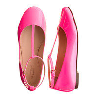 Girls' patent leather t-strap ballet flats - AllProducts - sale - J.Crew