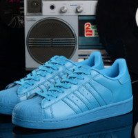 """Summer11""""Adidas"""" Fashion Shell-toe Flats Sneakers Sport Shoes colorful LIGHT BLUE"""