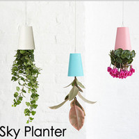 Sky Planter 4 Pack Hanging Upside Down Herb Plant Flower Pots