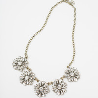 Serena Crystal Flower Statement Necklace
