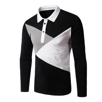 Long Sleeve Tee Hot Sale Men Casual Plus Size T-shirts = 6458657603