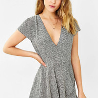Kimchi Blue Anita Ruffle-Front Skort Romper - Urban Outfitters