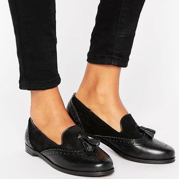 Park Lane Leather Mix Loafer at asos.com