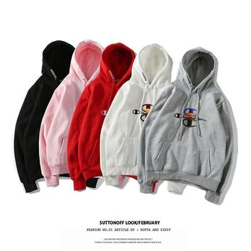 spbest Champion X Supreme  SMALL WORD Hoodie