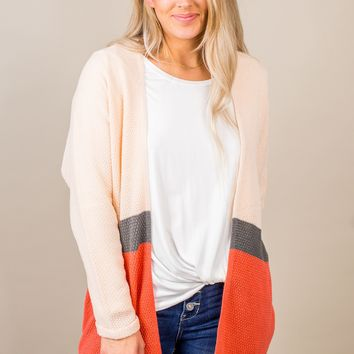 Colorblock Waffle Knit Cardigan- 3 Options