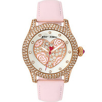 CRYSTAL HEART CERAMIC WATCH: Betsey Johnson