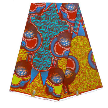 Sankofa - Ankara Fabric by the Yard - African Designer Fabric - Cotton Ankara Print - Ghanaian Dutch Wax - GTP NuStyle