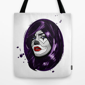 Clown Girl Tote Bag by Nicklas Gustafsson