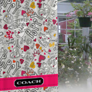 "New Coach Poppy Design Limited Edition High Quality Shower Curtain 60""x72"""