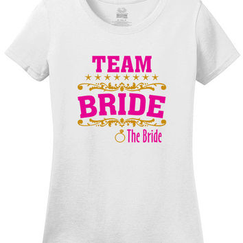 team bride the bride t shirt bridal shower party t shirt