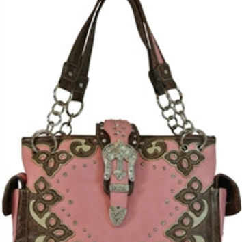 Western Concealed Carry Purse W/Bling Buckle