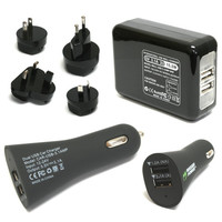 Wasabi Battery (2-Pack) and Charger (Car + Wall) Kit for GoPro HERO3